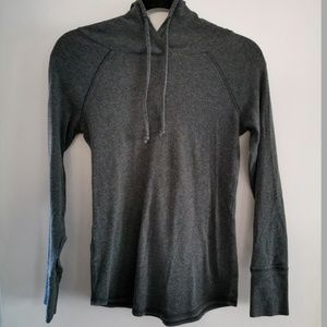 Eddie Bauer Grey Hooded Top